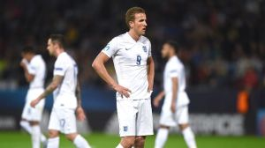 Harry Kane shows his disappointment as England crash out in the group stages